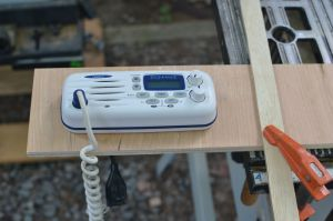 VHF dry-fit into cut out.